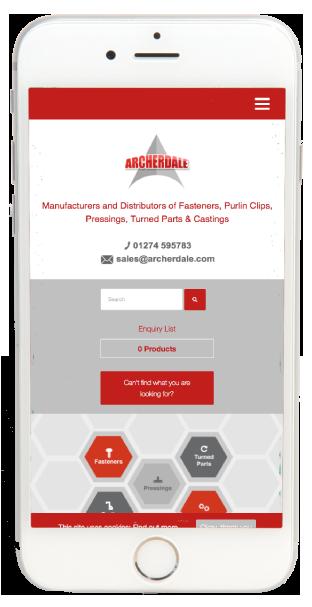 Archerdale Shipley website design