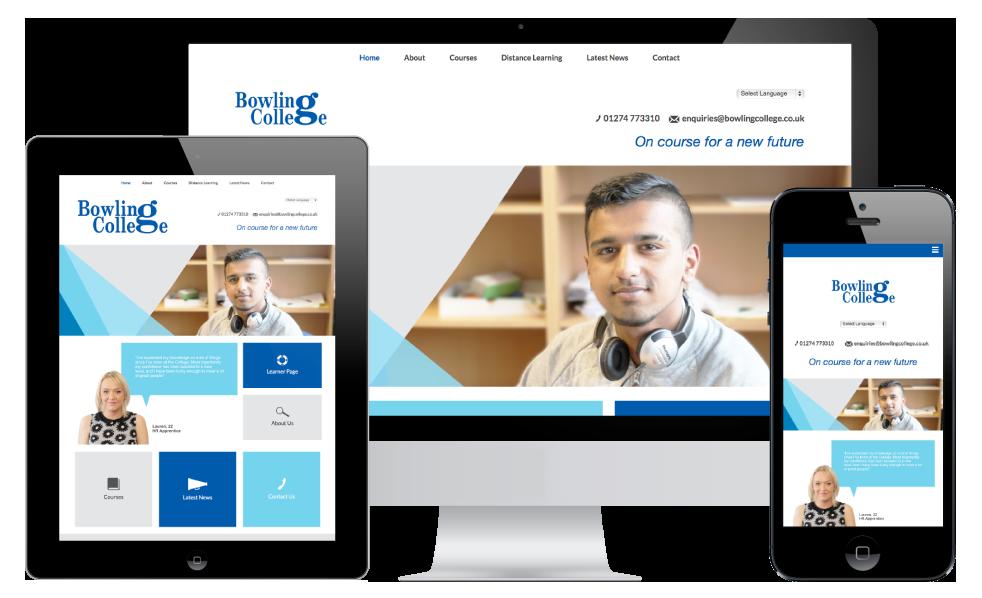 Bowling College Bradford web design