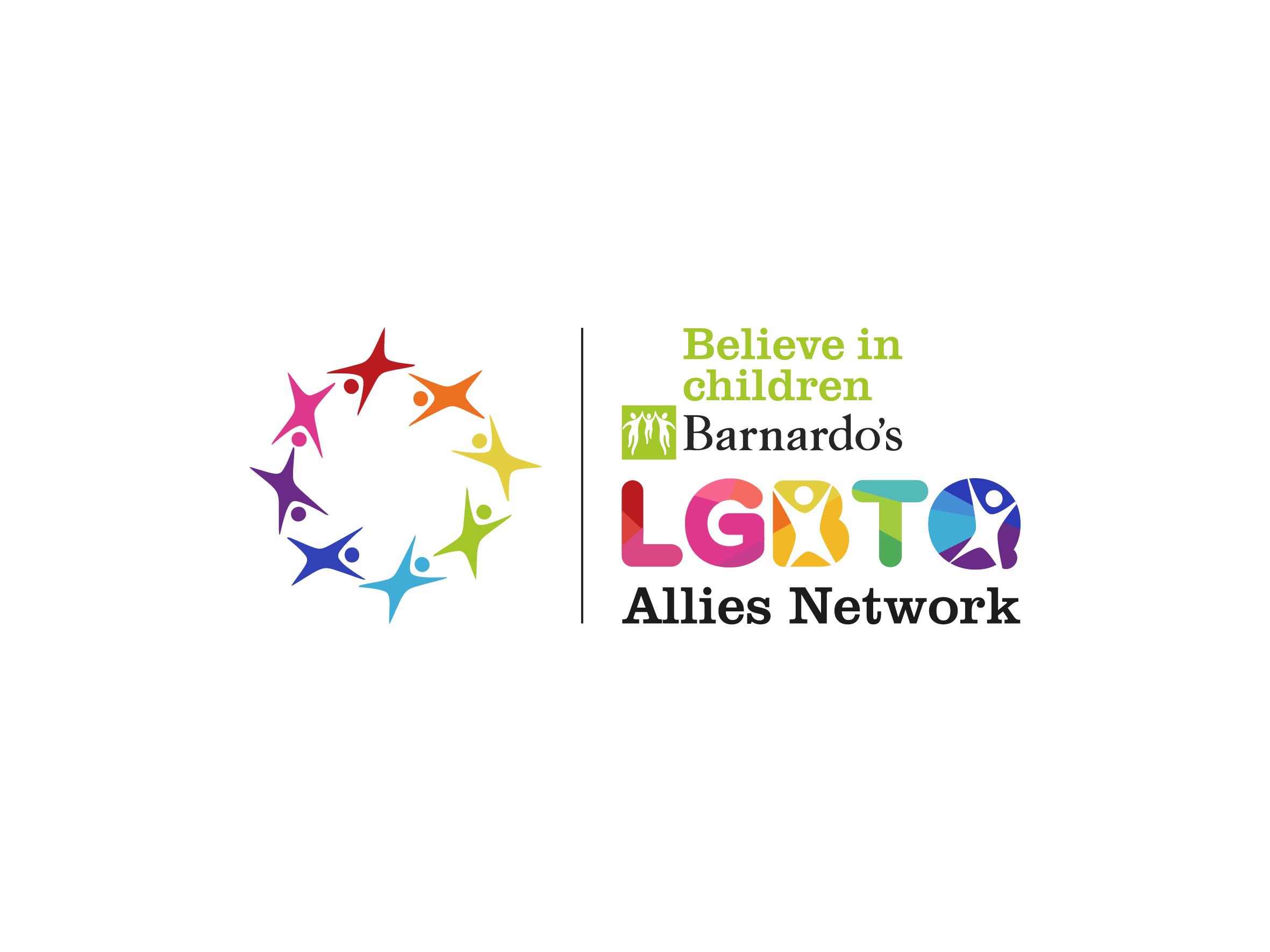 barnardos lgbtq allies network logo design designed by Dakini Design Saltaire, Shipley, Bradford