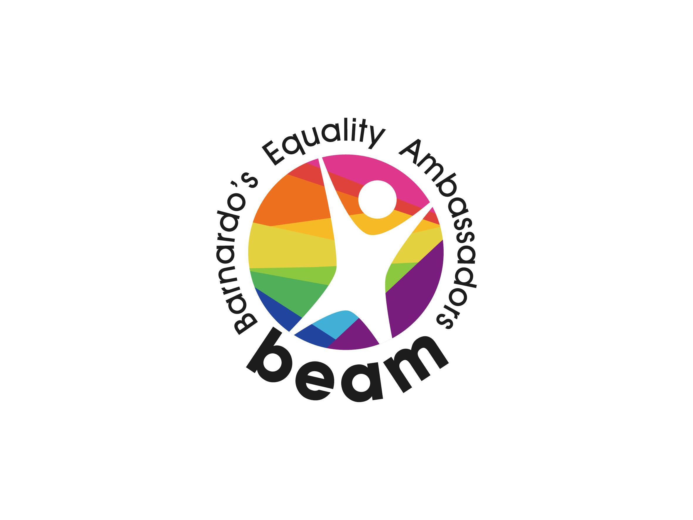 beam barnardos equality ambassadors logo design designed by Dakini Design Saltaire, Shipley, Bradford
