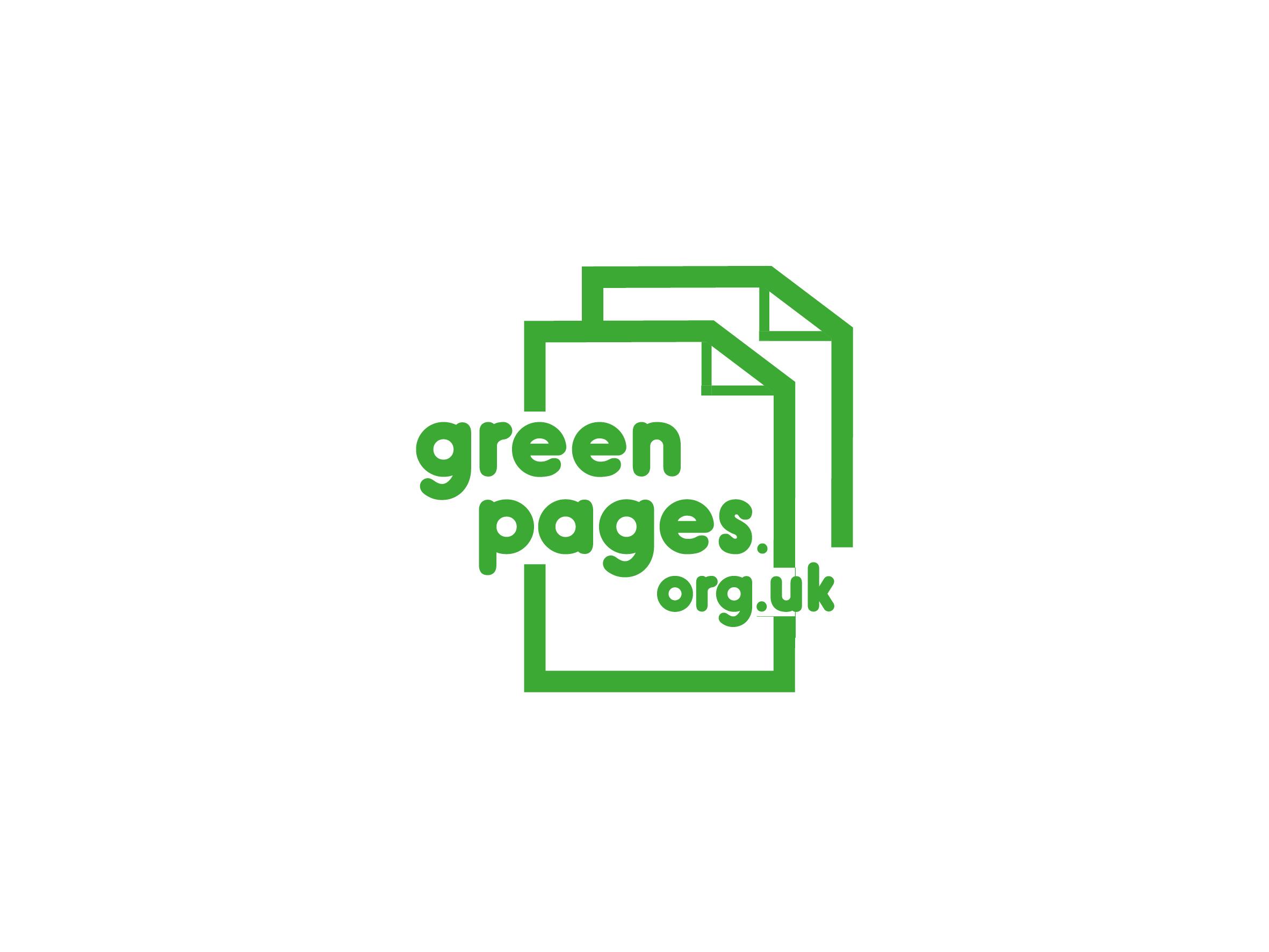 green pages logo design designed by Dakini Design Saltaire, Shipley, Bradford