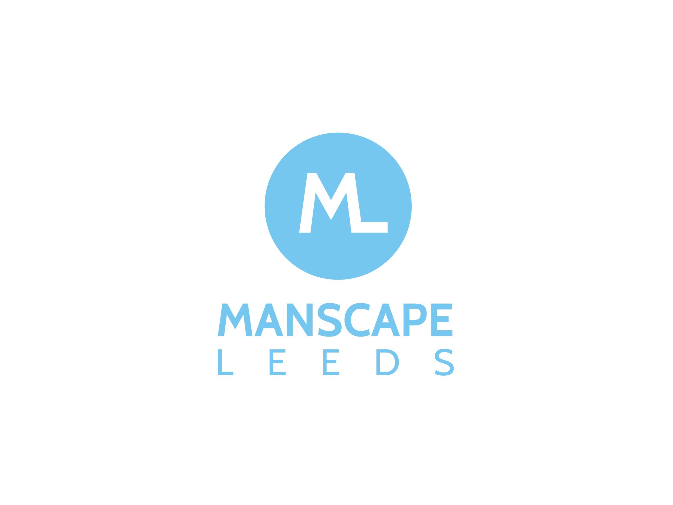 manscape leeds male grooming logo design designed by Dakini Design Saltaire, Shipley, Bradford
