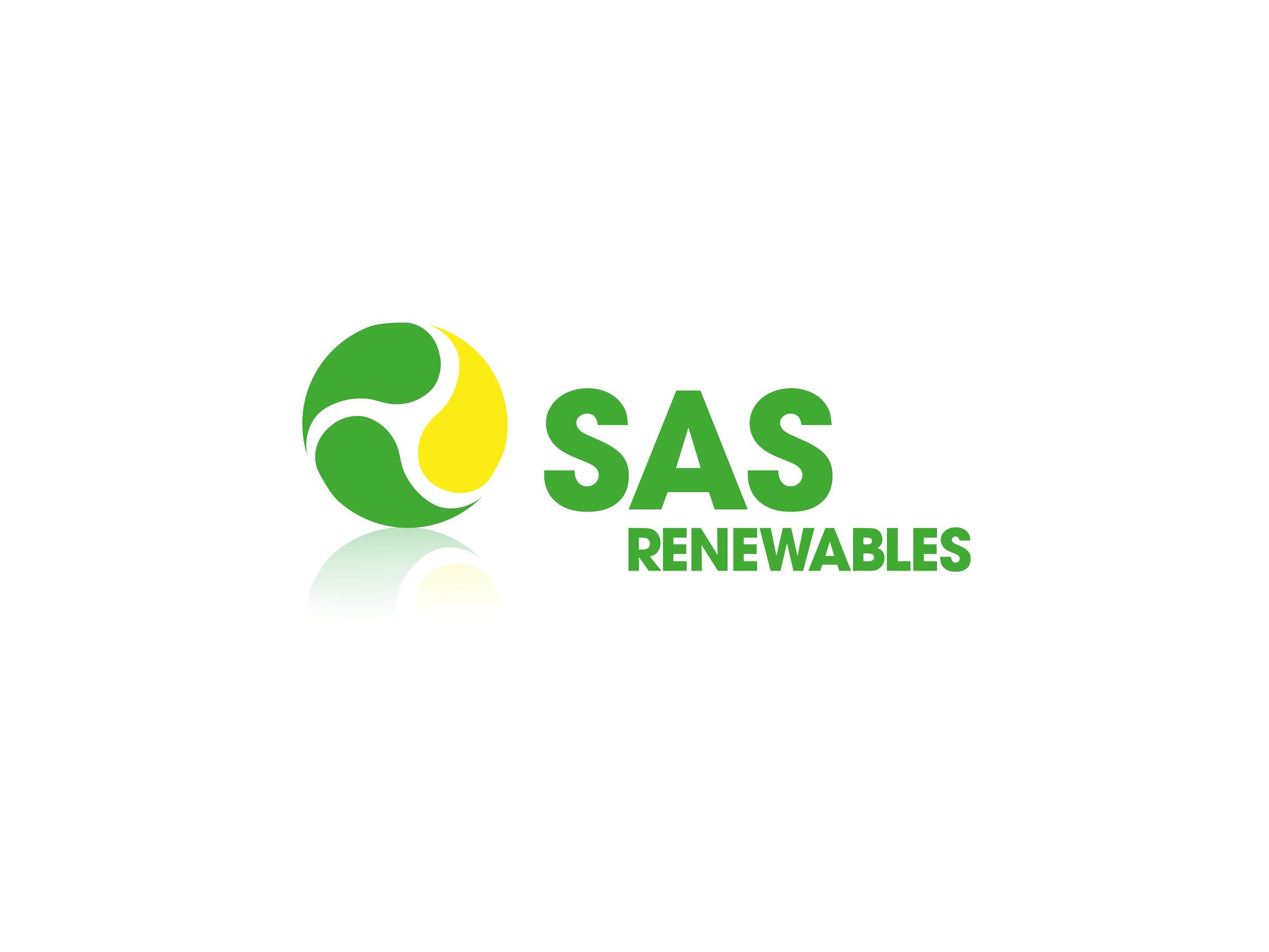 sas renewables logo design designed by Dakini Design Saltaire, Shipley, Bradford