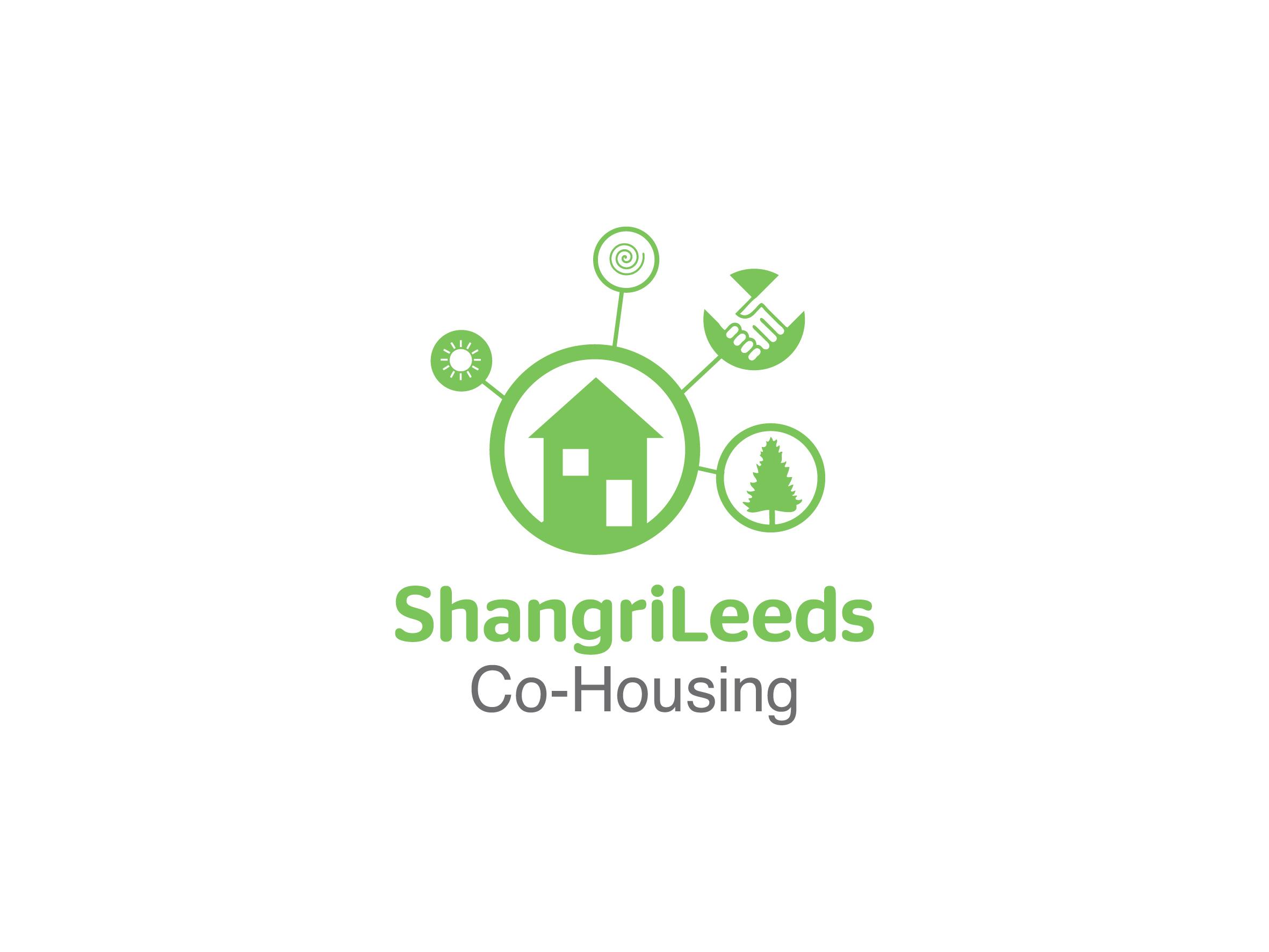 shangrileeds co-housing project leeds logo design designed by Dakini Design Saltaire, Shipley, Bradford