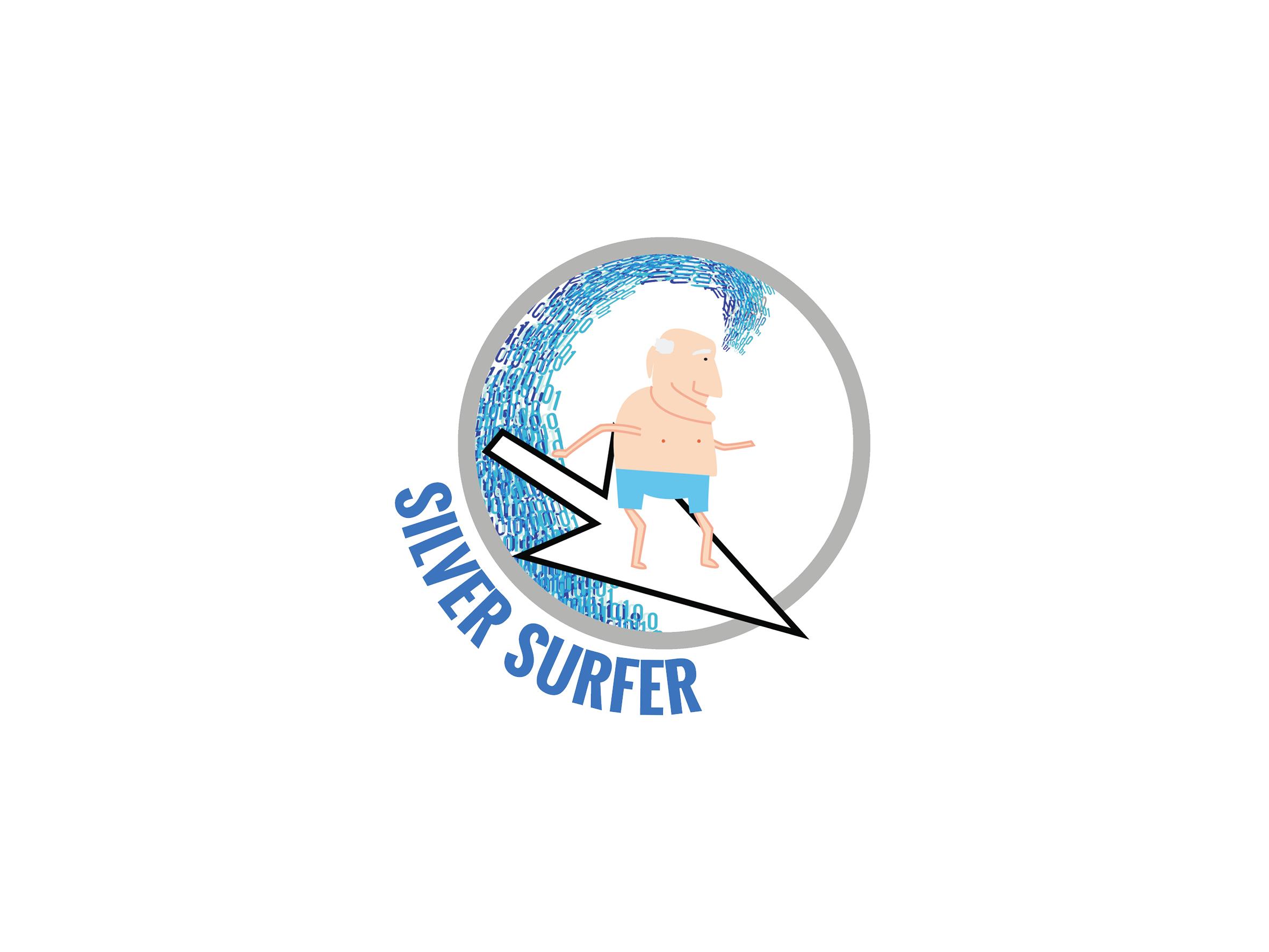 silver surfer logo design designed by Dakini Design Saltaire, Shipley, Bradford